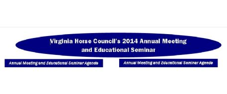 Debi Metcalfe to Present Program at Virginia Horse Council's 2014 Annual Meeting