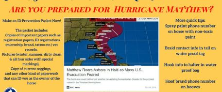 Hurricane Season is Amongst Us.....Prepare now for potential evacuations