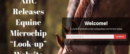 "PRESS RELEASE - AHC Releases Equine Microchip ""Look-up"" Website"