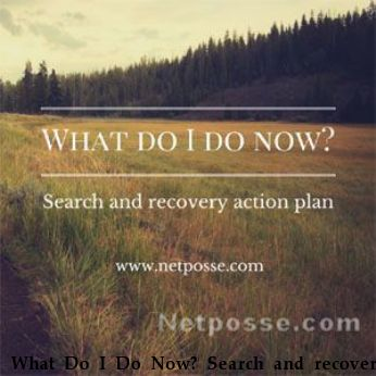 What Do I Do Now? Search and recovery action plan