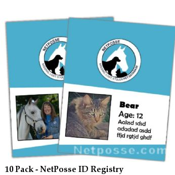 10 Pack - NetPosse ID Registry