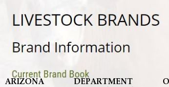 ARIZONA DEPARTMENT OF AGRICULTURE Registered Brands 2019