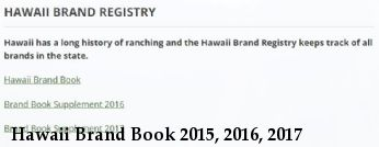 Hawaii Brand Book 2015, 2016, 2017
