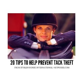 20 TIPS TO HELP PREVENT TACK THEFT