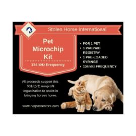 AVID Microchip Kit for Dog or Pet 134 Khz - with PetTrac Registration and NID