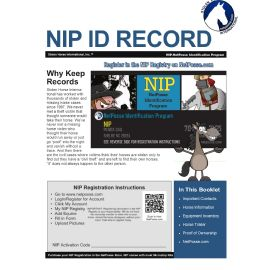 NIP  Horse, Tack and Equipment ID Booklet