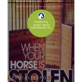 EQUUS Special Report! -  When your horse is stolen