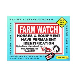 FARM WATCH Special BOGO with NetPosse ID Registry