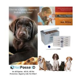 AVID Microchip Kit for Dog Pet 134 Khz - with 2 Pre-Paid Registrations