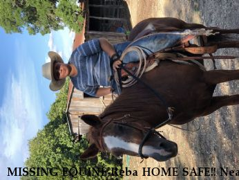 MISSING EQUINE-Reba HOME SAFE!! Near Comfort , TX, 78013